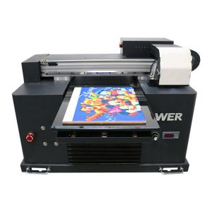 A2 A3 size desktop small led uv flatbed printer for decoration printing